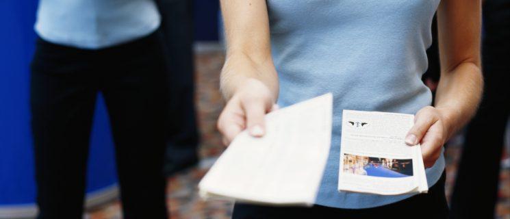 distribution de flyers à Rouen