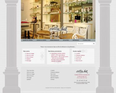 Design du site web Cellu Hit