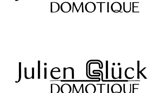 Création du logo Julien Glück Domotique