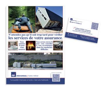 AXA Affiche et carte de visite
